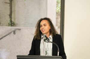 Shari Davis of the Participatory Budgetting Project provides her keynote comments