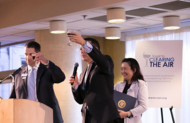 CCA Board Chairman, CCA President Joe Lyou, and CCA Boardmember Betty Chim Lieu