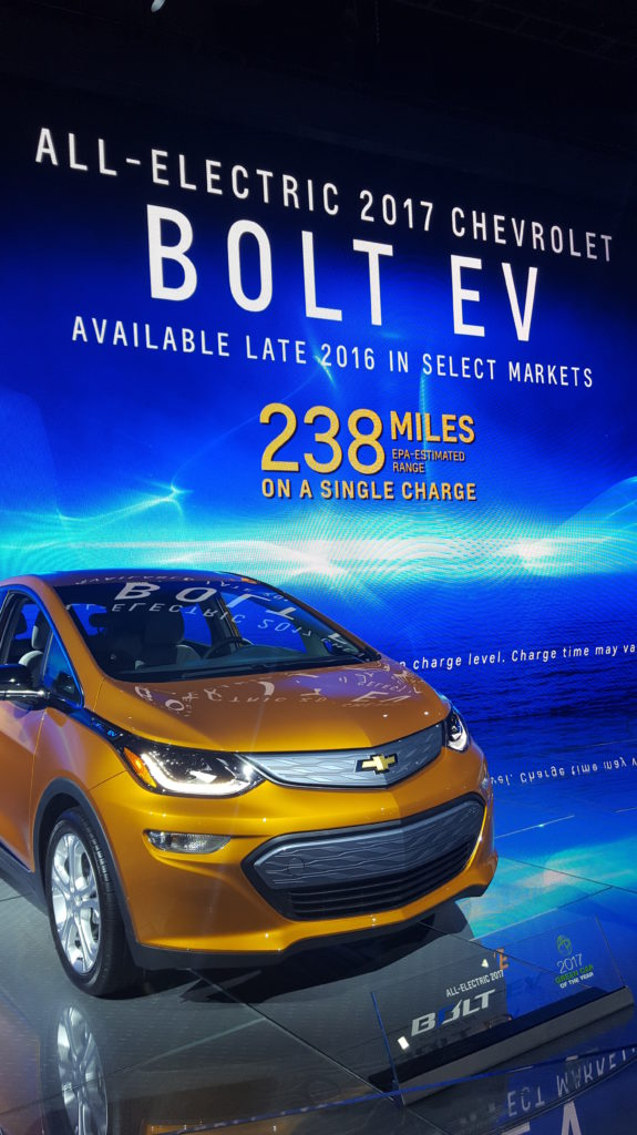 The Chevy Bolt EV was named the Motor Trend Car of the Year and the 2017 Green Car of the Year.